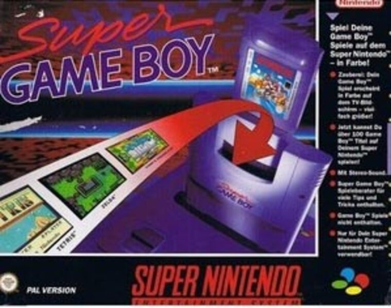 Super Game Boy Adapter Super Nintendo Bild