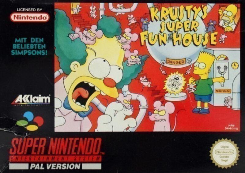 Krusty`s Super Fun House Super Nintendo Bild
