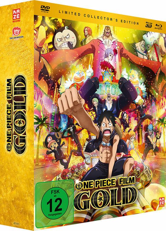 One Piece - 12. Film: Gold  (+ BR + BR3D) [LCE] DVD Bild