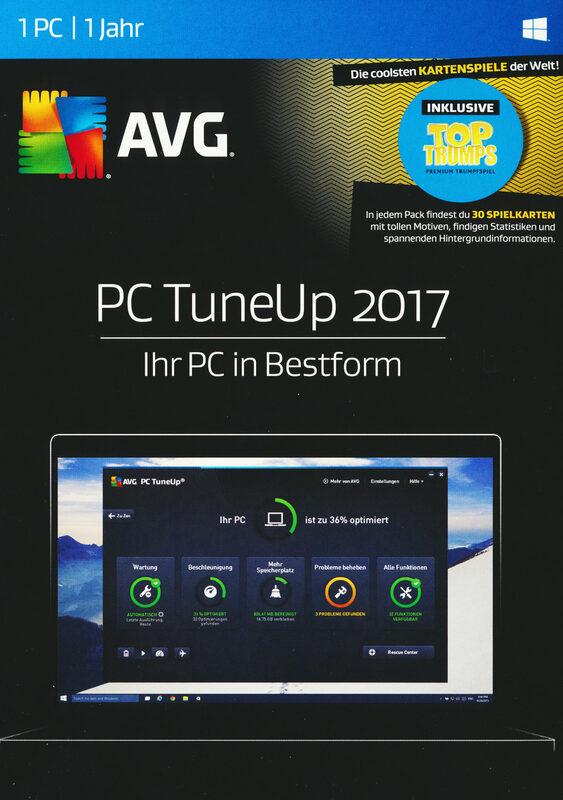 AVG PC TuneUp 2017 - Special Edition PC Bild
