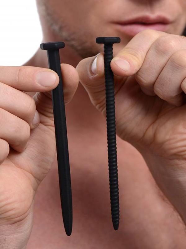 Master Series Hardware Nail And Screw Silicone Sounds Black Gay Toys Bild
