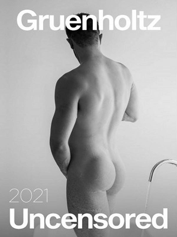Gruenholtz Uncensored 2021 - Wandkalender Gay Buch / Magazin Bild