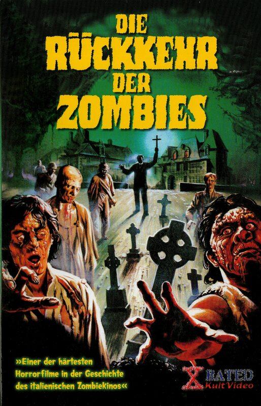 Die Rückkehr der Zombies VHS-Video Bild