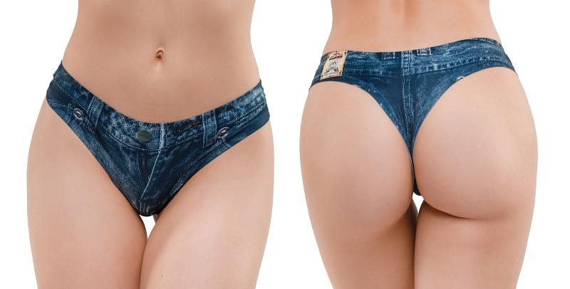 Memème  Jeans Dark Thong S  Bild