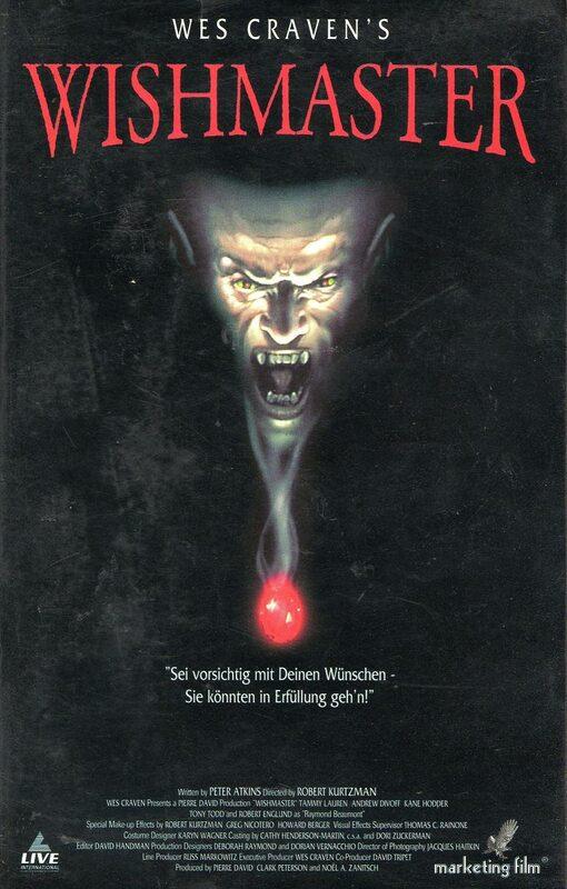 Wishmaster VHS-Video Bild