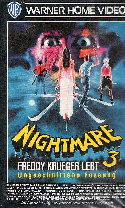Nightmare on Elm Street 3 - Freddy Krueger lebt - Ungeschnittene Fassung VHS-Video Bild